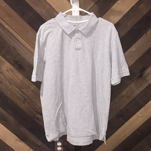Faded glory polo 1/4 button up grey